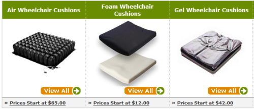 wheelchair seat cushions